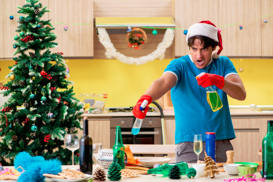 how to clean up after holidays