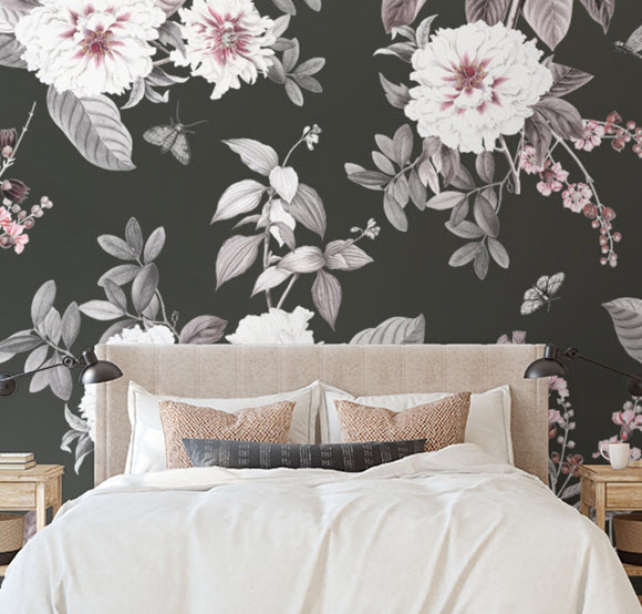 how to use flowered wallpaper in any room