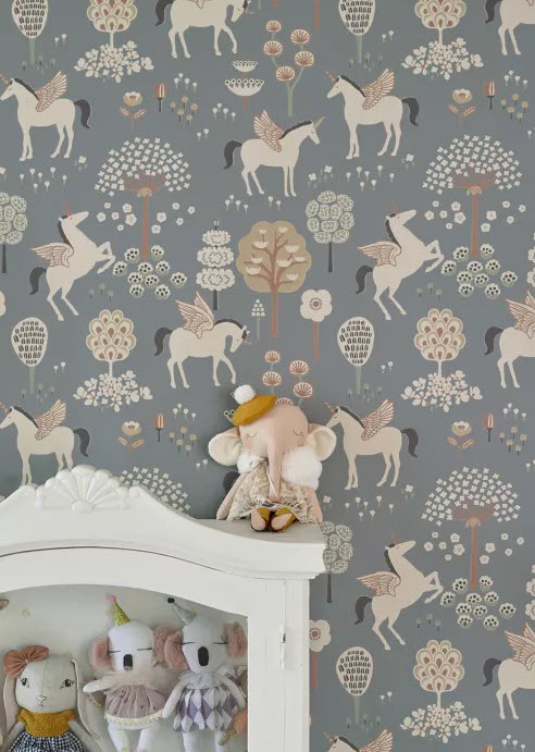 Kids Print Vintage Wallpaper for Kids Bedroom
