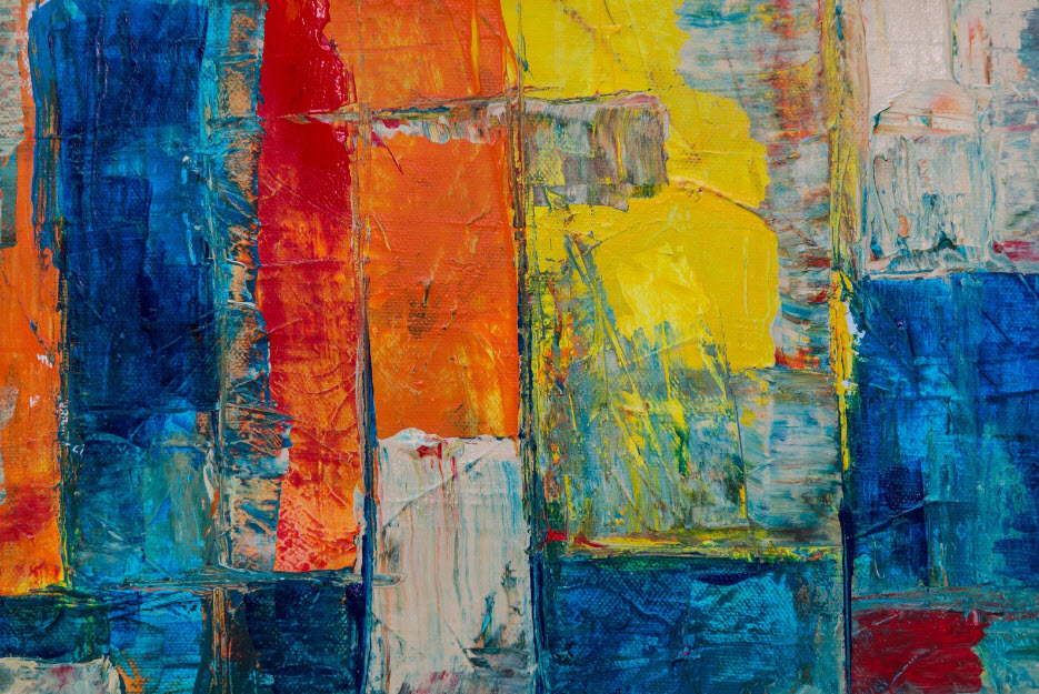abstract canvass painting