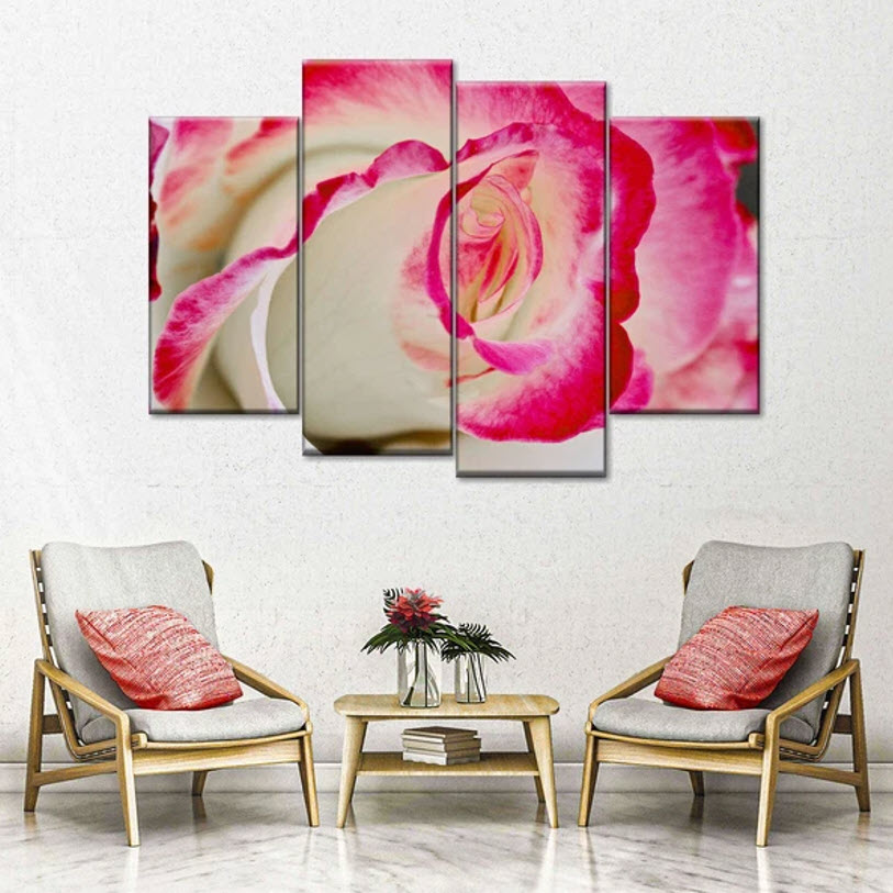 Pink Inspired Wall Art - pink and gold combination
